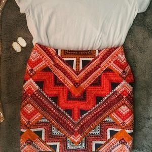 Merona Printed Mini Skirt